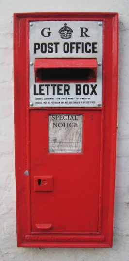 Letter box (no longer in use) outside the former post office