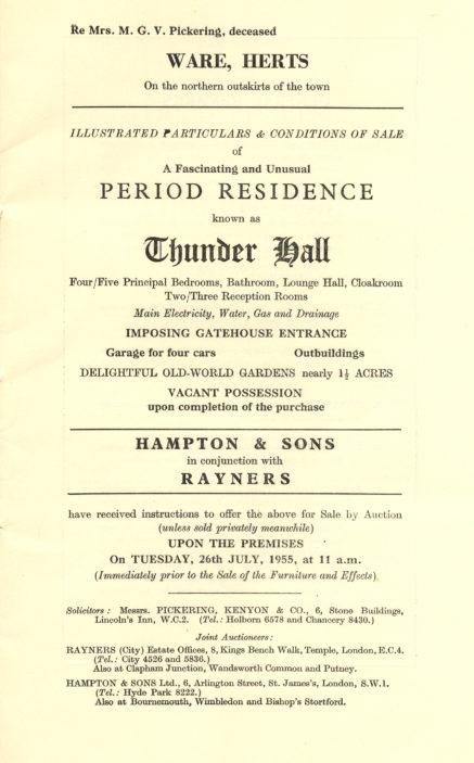 Thunder Hall, Ware