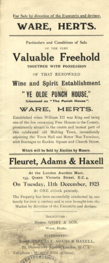 Sales particulars for 1923 | Hertfordshire Archives and Local Studies