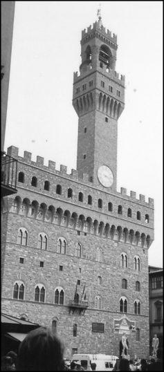 The Palazzo Vecchio, home of the Medici family.
