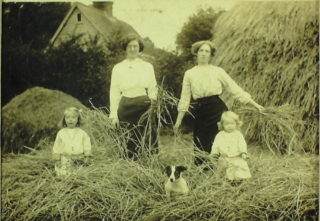 Rene on right with her sister, mother and ?
