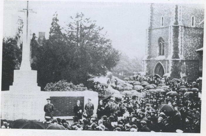 War memorial being unveilled   HALS Library collection