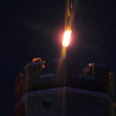 Lighting Hertford Castle's Beacon