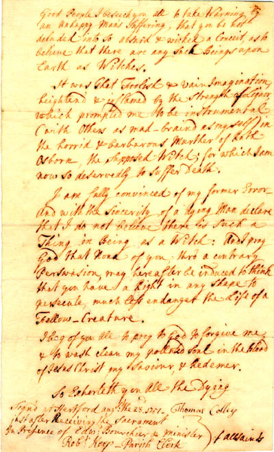 The Actual Confession | Hertfordshire Archives and Local History, ref: D.ELw.z22