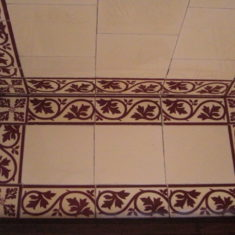 Tiling in the stable block remains