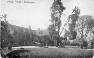 German guns in position outside The Priory | Ware Town Council and Ware Museum