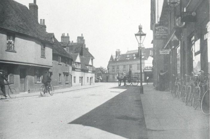 Wackett's cycle shop can be seen on the right of this photograph | Hertfordshire Archives & Local Studies