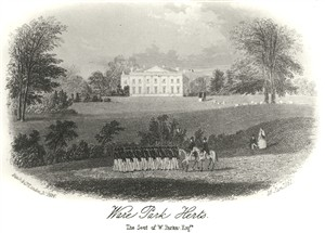 Ware Park in 1861 | Hals