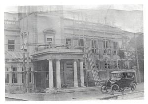 The house being rebuilt | Hertford Museum