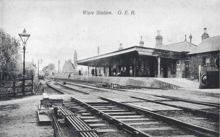 Ware Station with its single platform | Hertfordshire Archives and Local Studies