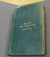Ware Council minute book   Terry Askew