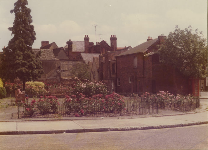 Gardens in front of the church | Herts Archives & Local Studies