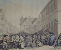 Hertford Market - early 19th century | Hertford Museum