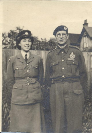 Zillah Driver and her Dad, Stanley Chambers, in Observer Corps uniform | Zillah Driver