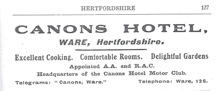 Advert from a directory of 1927 | Herts Archives & Local Studies