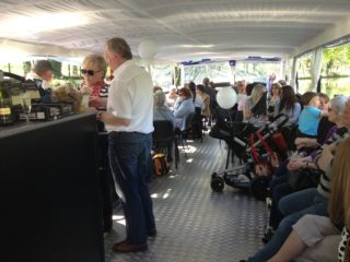 A busy day on the Water Bus!