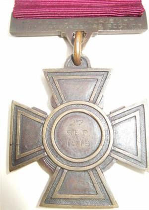 Corporal Burt's Victoria Cross (Hertford Museum)