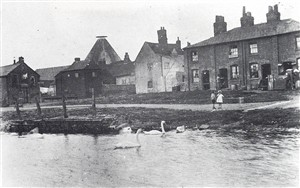 Butcherley Green viewed from The Old Barge, 1920s