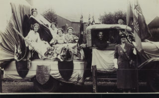 Miss M E Rayment and her attendants | Hertfordshire Archives and Local Studies