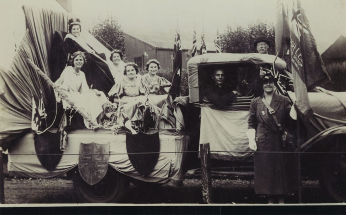Miss M E Rayment and her attendants   Hertfordshire Archives and Local Studies