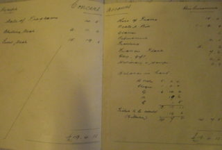 Accounts for a concert held in February, 1898 to raise money for the club