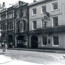 Left to right: the Post Office, a charity shop and the Dimsdale Arms, 1979.   Hertfordshire Archives and Local Studies/J. Simons