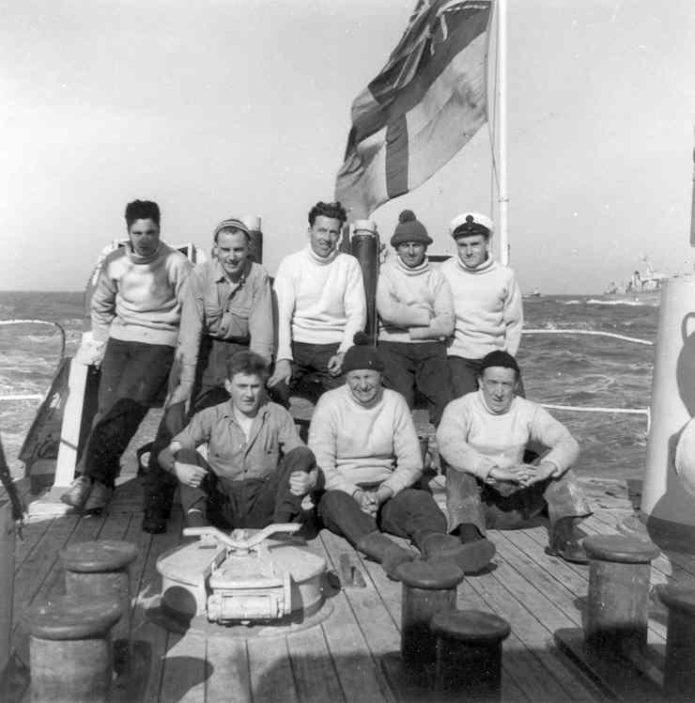Doug, back row right, sweep deck, HMS