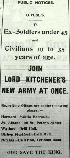 Hertfordshire Mercury, 5th September, 1914