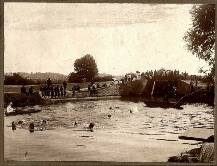 Swimming Sports at Hertford Lock, 1903 | Hertford Grammar School