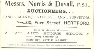 Advertisement from Kelly's Directory of Hertfordshire