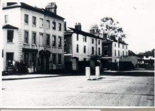 Houses at the east end of Fore Street pulled down to make way for Gascoyne Way