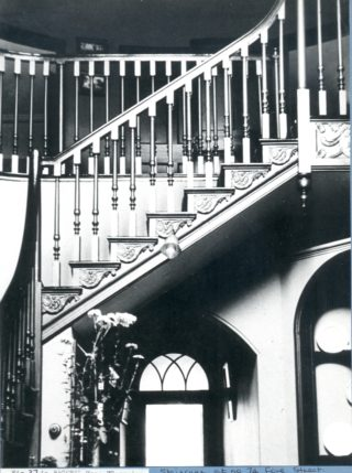 Staircase inside number 74