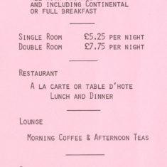 Tariff, 1970s