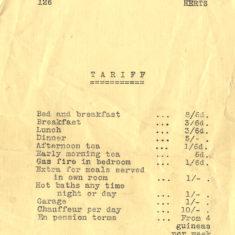 Tariff c1927 | Herts Archives & Local Studies