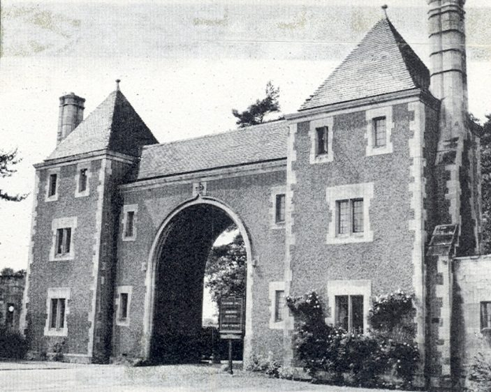 Entrance to Fanhams Hall | Hertfordshire Archives and Local Studies